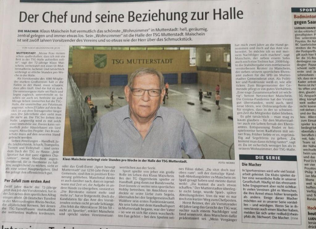 """Unser Vorsitzender und sein """"schönstes 'Wohnzimmer' in Mutterstadt"""""""